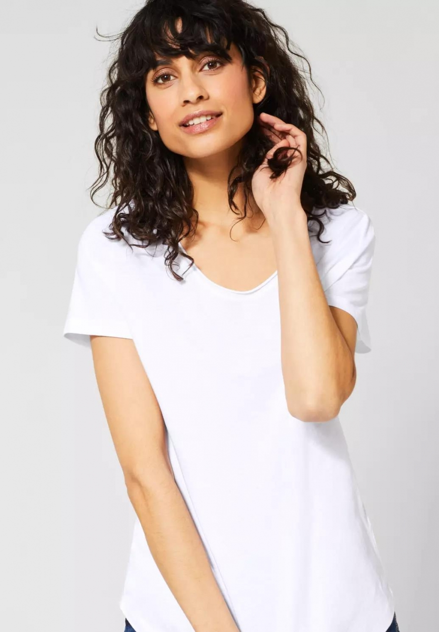 Street One | T-Shirt im Basic Style | Farbe: white 10000, 314792