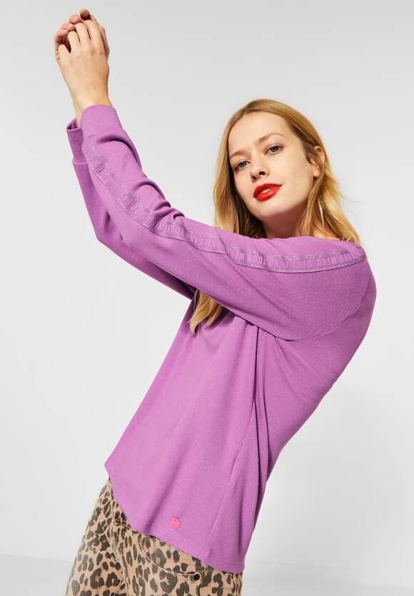 "Street One | Shirt ""Lena""mit Kontraststreifen | Farbe: sweet lilac 12561, 315737"