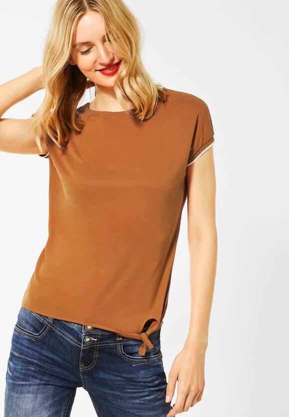 "Street One | Jersey-Shirt ""Femke"" | Farbe: foxy caramel 12467, 315251"