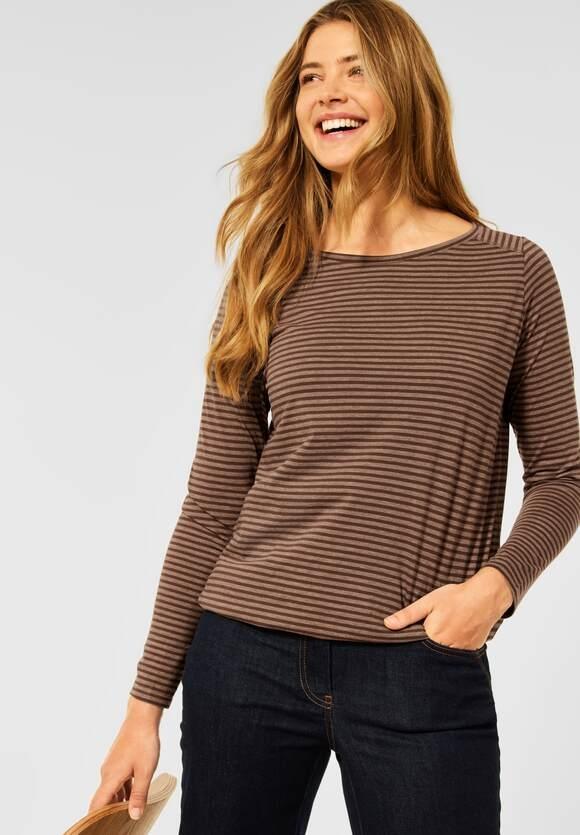 CECIL | Shirt mit Streifen Muster | Farbe: toffee brown 23294, 316947
