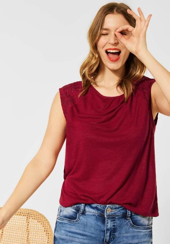 Street One   T-Shirt mit Stickerei   Farbe: gentle red 13052, 316507