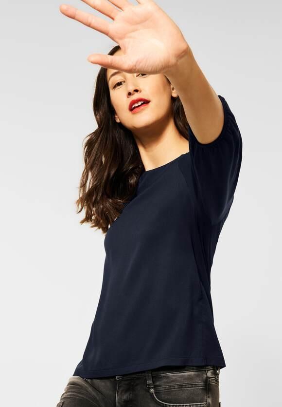 Street One | Shirt mit Raffung | Farbe: dark blue 12552, 315921