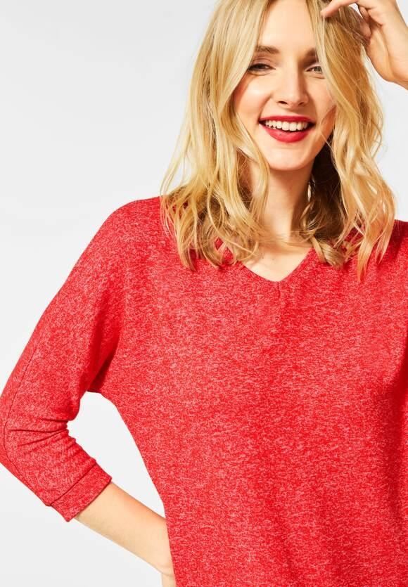 "Street One | Shirt ""Ellen"" in Melange-Optik | Farbe: blazing red 12569, 315375"