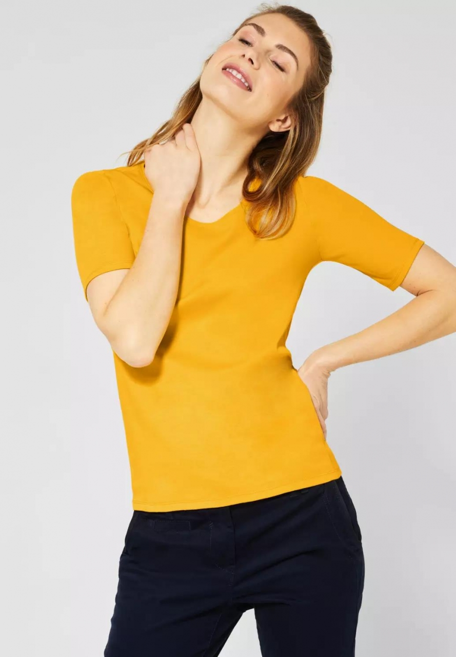 "Cecil | Halbarmshirt ""Lena"" | Farbe: mango yellow 12050, 311780"