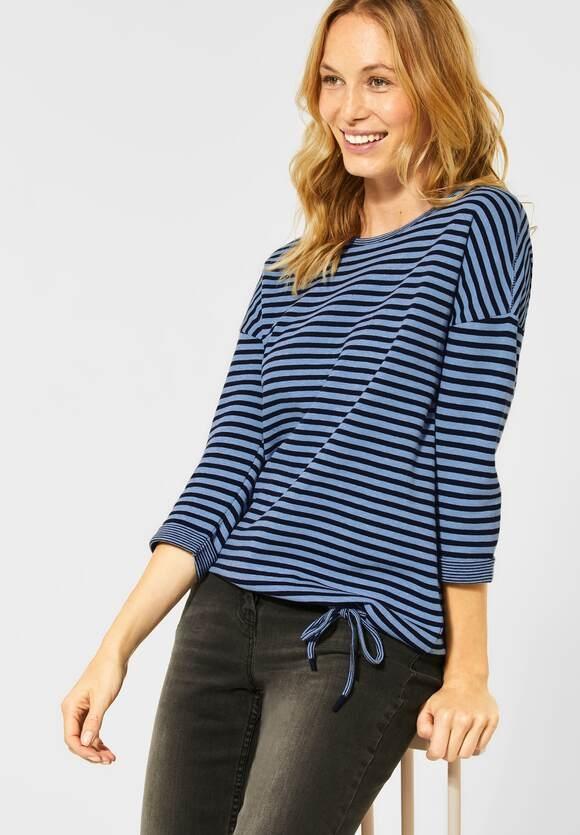 Cecil | Softes Shirt mit Streifen | Farbe: light blue mel 22582, 315460