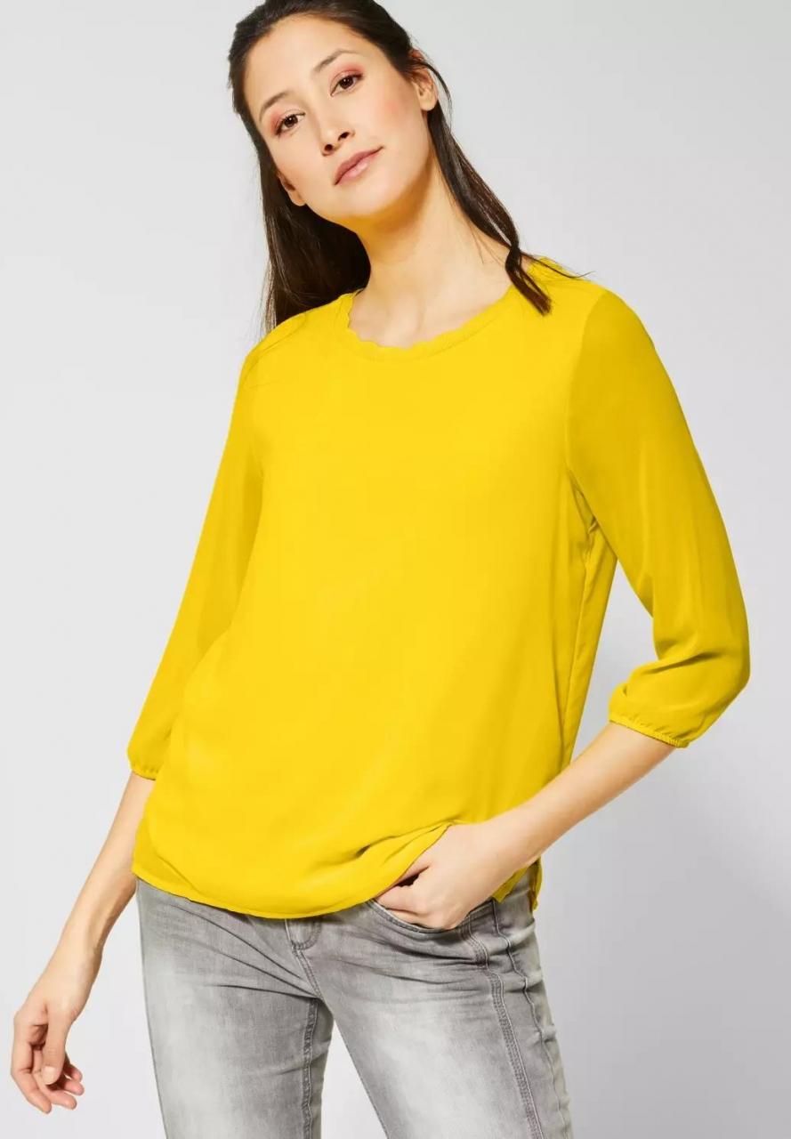 "Street One   Shirt ""Jacinda"" im Lagen-Look   Farbe: shiny yellow 12201, 314632"