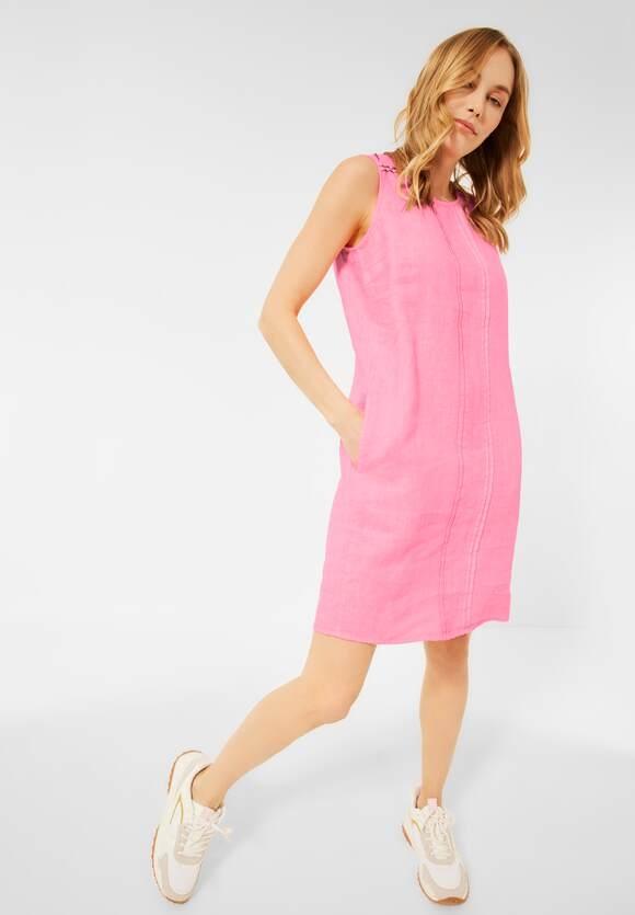 Cecil | Leinen Kleid in Unifarbe | Farbe: soft neon pink 12735, 142856