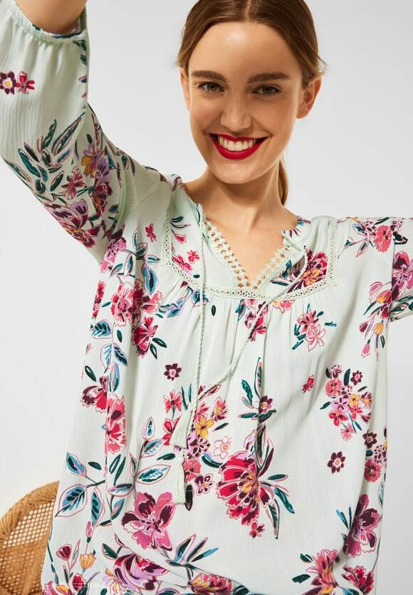 Street One | Shirt im Tunika Style | Farbe: light shadow green 33056, 316400
