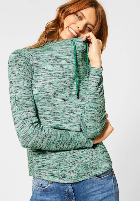 Cecil | Shirt im Multicolour-Look | Farbe: clover green heather 12638, 315479