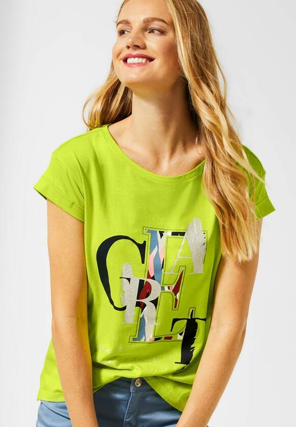 Street One   T-Shirt mit Print   Farbe: laser lime 32368, 315126