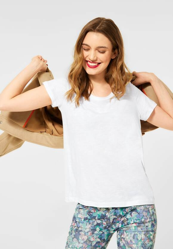 "Street One | Cosy T-Shirt ""Gerda"" | Farbe: white 10000, 316184"