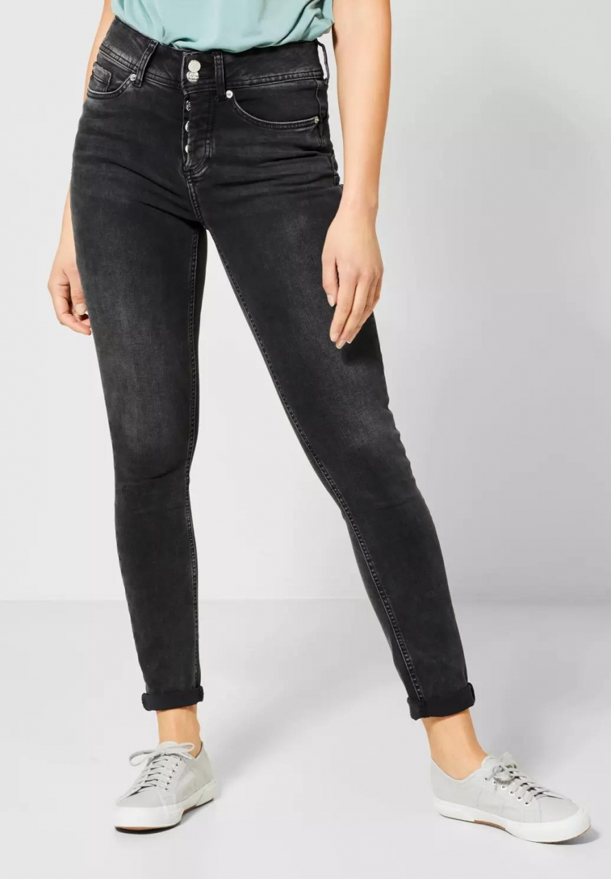 Street One | Denim mit Push-Up Look | Farbe: bleached black 12319, 372933