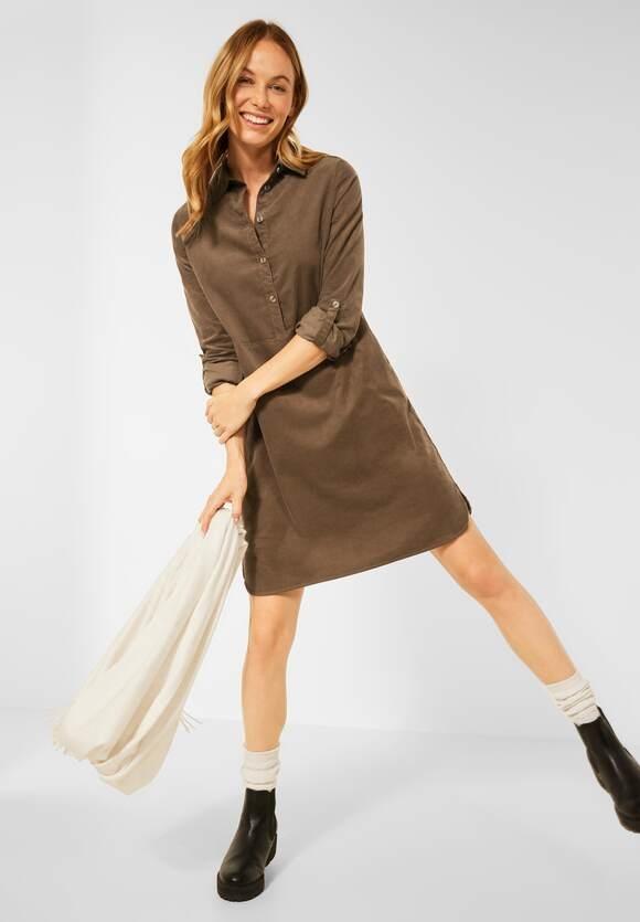CECIL | Cord Kleid in Unifarbe | Farbe: toffee brown 13294, 143055
