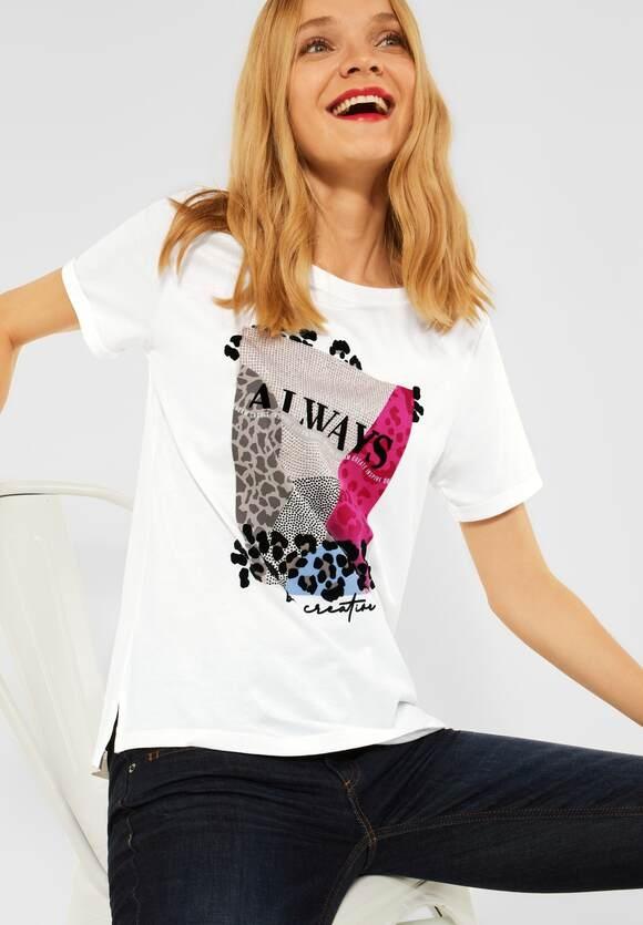 Street One   Shirt mit Partprint   Farbe: off white 30108, 316911