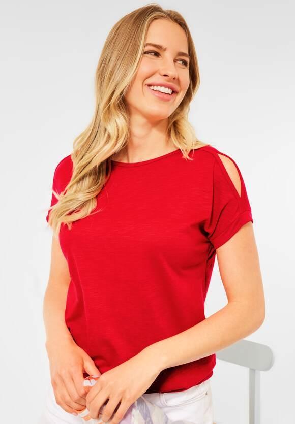 Cecil | Shirt mit U-Boot Ausschnitt | Farbe: poppy red 12973, 316344