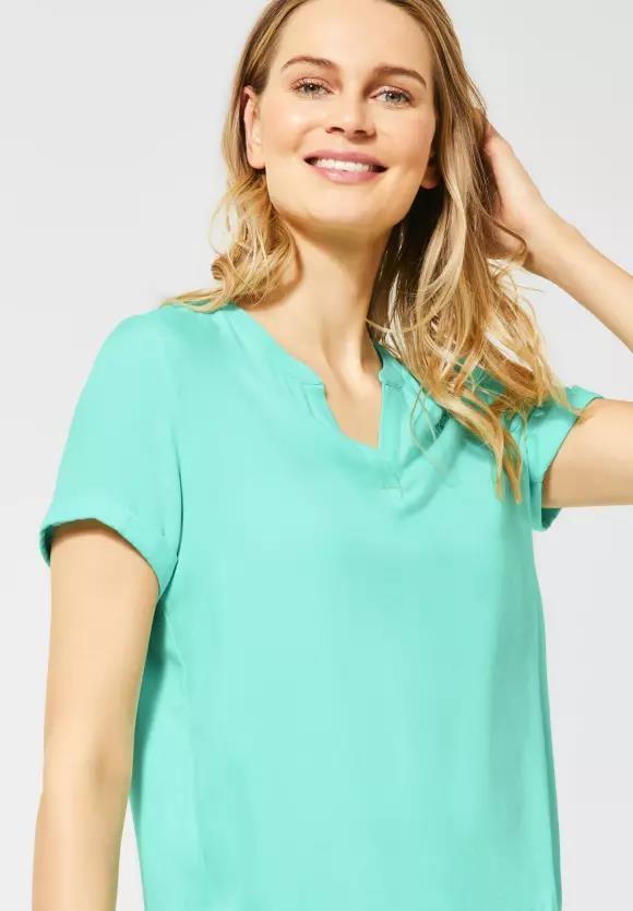 Cecil | Lässige Bluse in Unifarbe | Farbe: mint green 12175, 342038