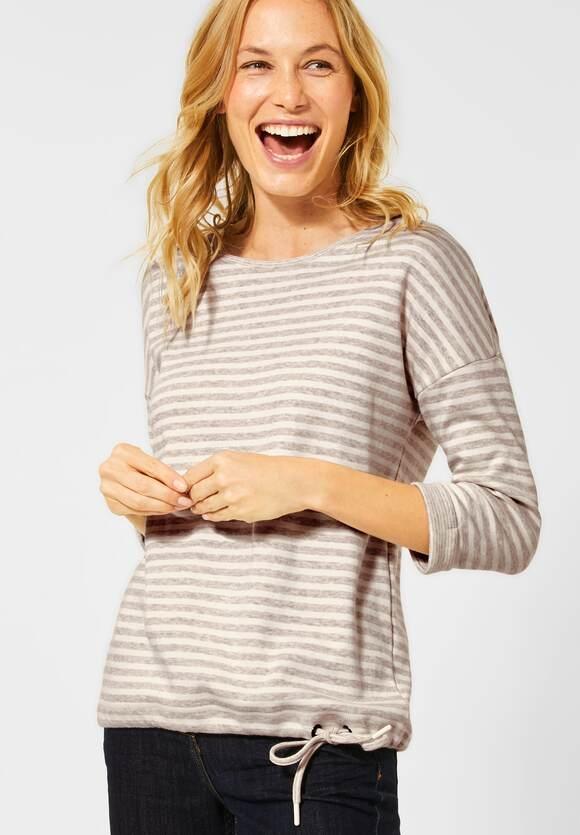Cecil | Softes Shirt mit Streifen | Farbe: soft camel melange 22471, 315460