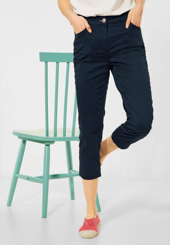"Cecil | Slim Fit Hose ""Vicky"" in High Waist 