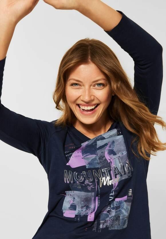 CECIL | Shirt mit Fotoprint | Farbe: deep blue 30128, 317017