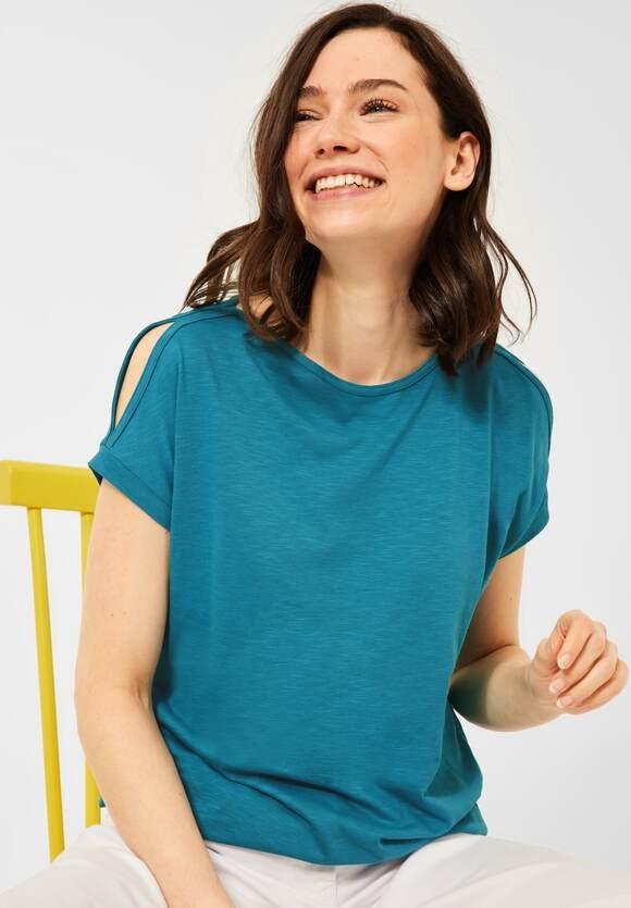 Cecil   Shirt mit U-Boot Ausschnitt   Farbe: cool lagoon blue 11813, 316344