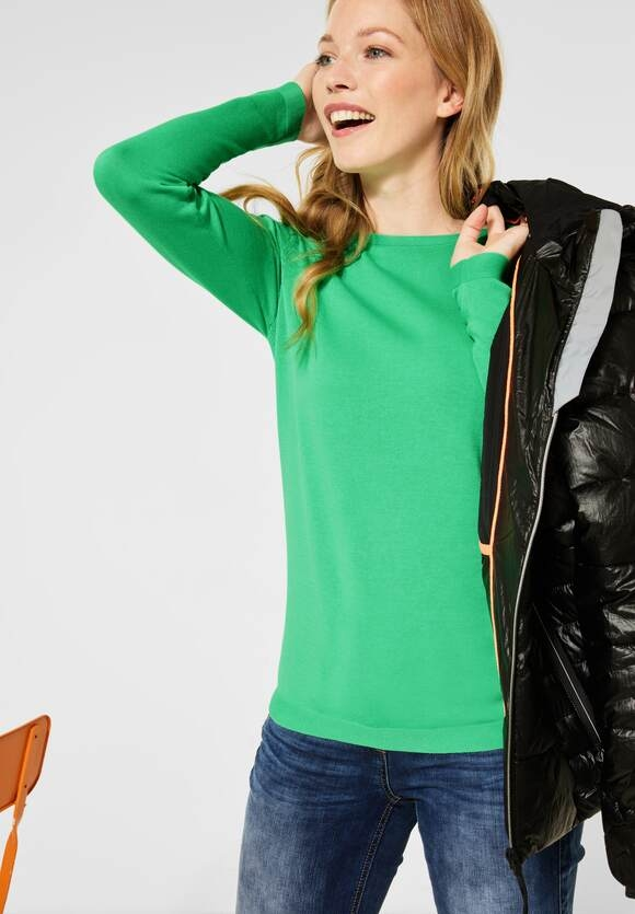 Cecil | Dünner Basic Pullover | Farbe: cool light mint green 12574, 301262