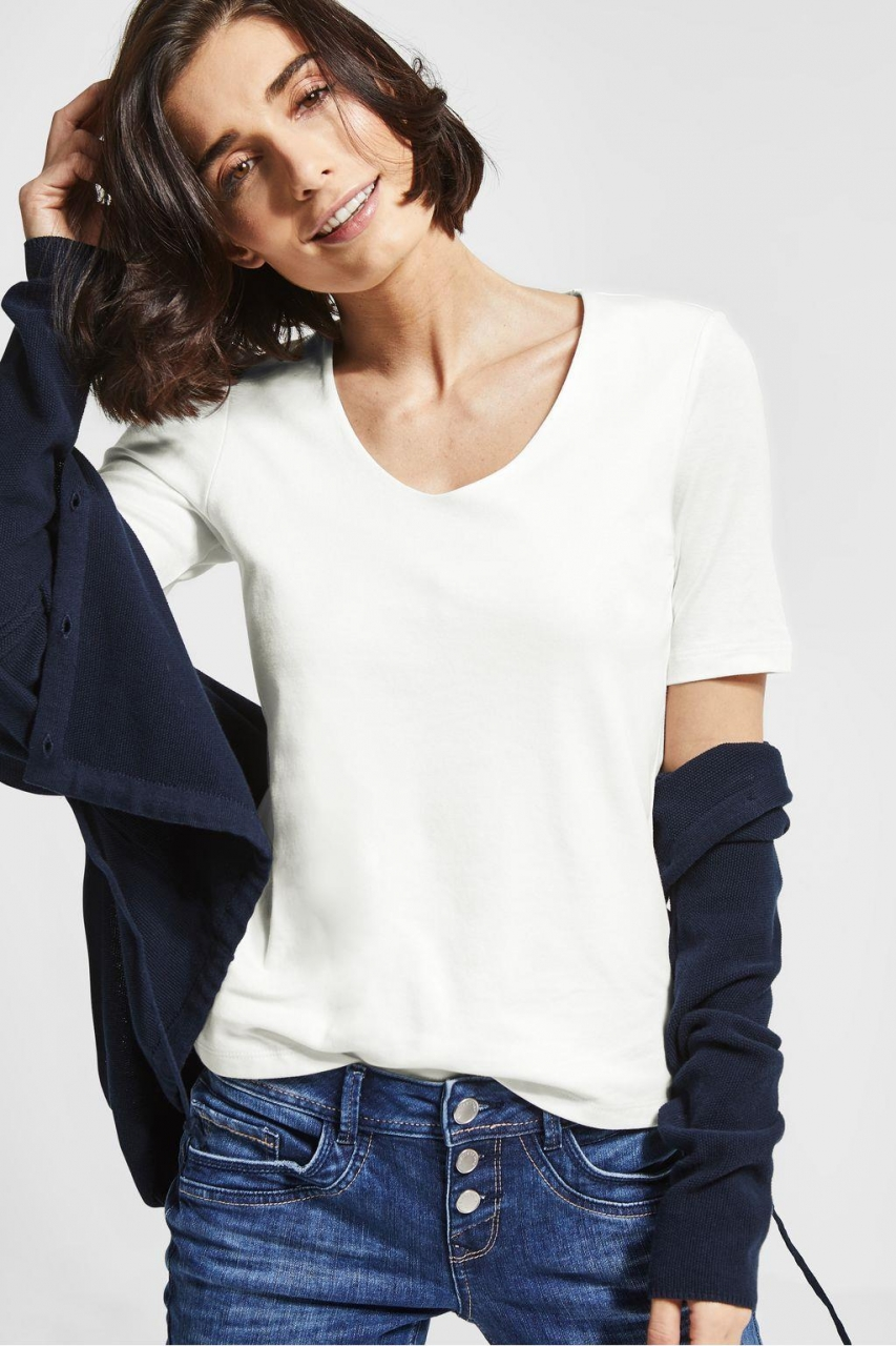 "Street One   Basic Shirt ""Palmira""   Farbe: off white 10108, 313104"