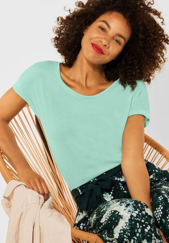 Street One   T-Shirt im Seiden Look   Farbe: menthe green 13108, 316497