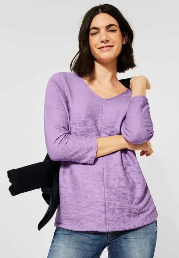 Cecil | Lässiges Seersucker-Shirt | Farbe: soft violet 12746, 315804