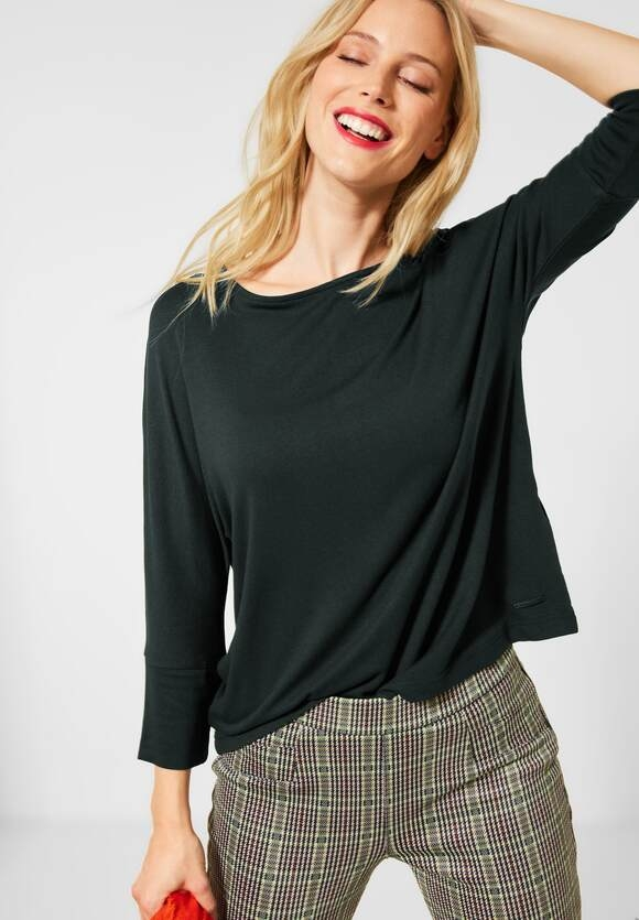 Street One   Unifarbenes Oversize-Shirt   Farbe: endless green 12508, 315508