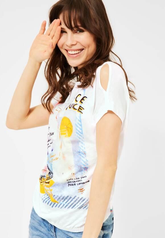 Cecil | T-Shirt mit Print | Farbe: pure off white 30125, 316345