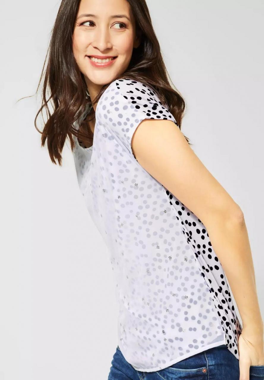 Street One | Shirt im Lagen-Look | Farbe: white 30000, 314663