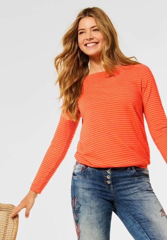 CECIL | Shirt mit Streifen Muster | Farbe: smoked paprika orange 23278, 316947