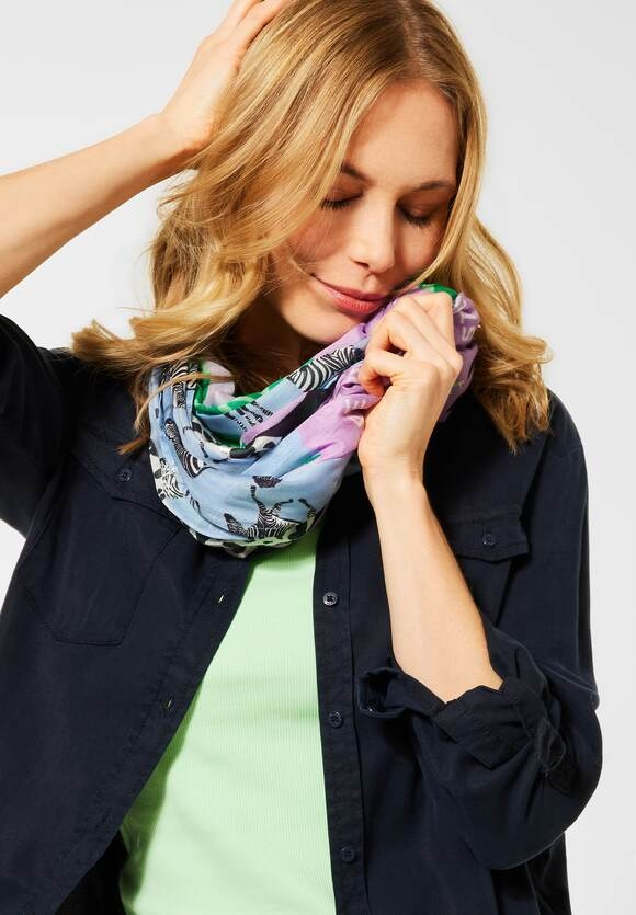 Cecil | Loop im Patchwork-Style | Farbe: soft violet 32746, 571490