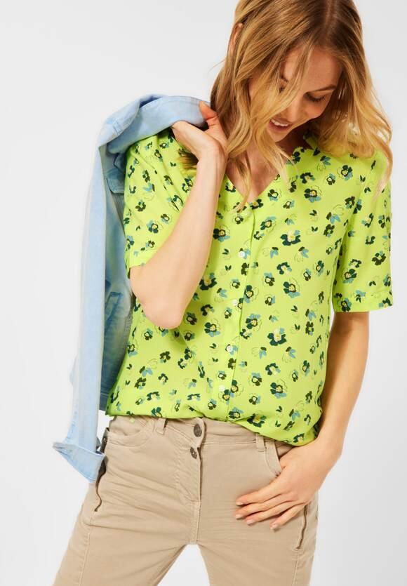 Cecil | Bluse mit Blumen Muster | Farbe: sunny lime 33035, 342567