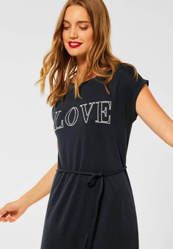 Street One   Midi Kleid mit Partprint   Farbe: neo grey 21017, 143027