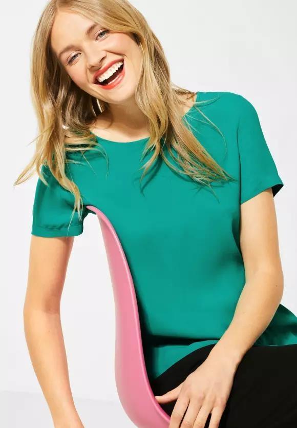 Street One | T-Shirt in Unifarbe | Farbe: pool aqua 12332, 315017
