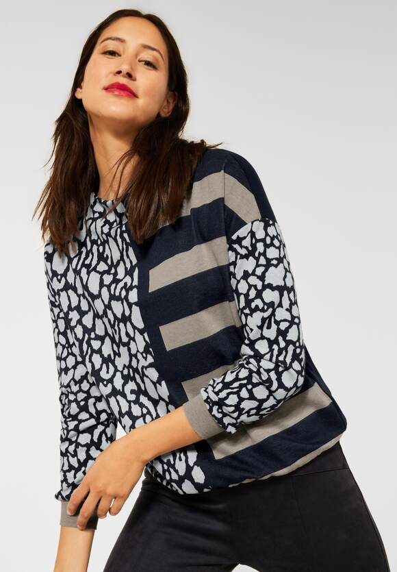 Street One   Shirt im Streifen Dessin   Farbe: off white 30108, 316893