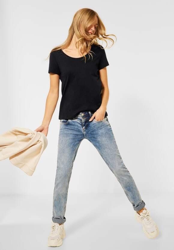 "Street One | Cosy T-Shirt ""Gerda"" | Farbe: black 10001, 316184"