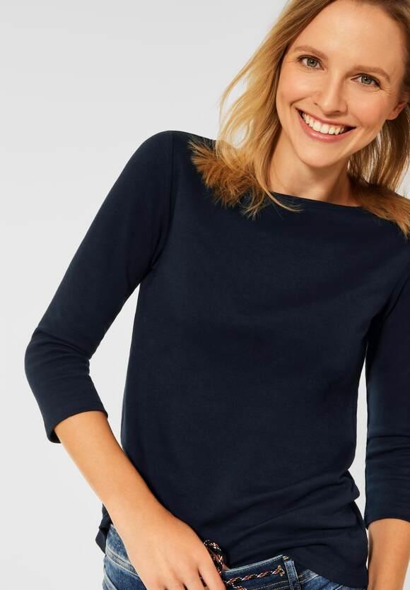 CECIL   Basic Shirt mit 3/4 Ärmel   Farbe: deep blue 10128, 317082