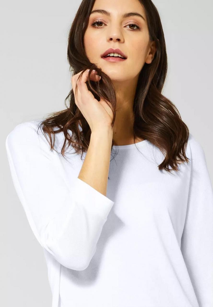 Street One | Shirt mit Fledermausärmeln | Farbe: white 10000, 314644