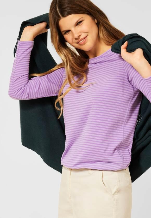 CECIL   Shirt mit Streifen Muster   Farbe: frosty violet 23437, 316947