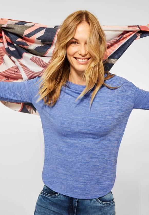 CECIL | Shirt in Melange Optik | Farbe: mountain blue melange 13419, 317024