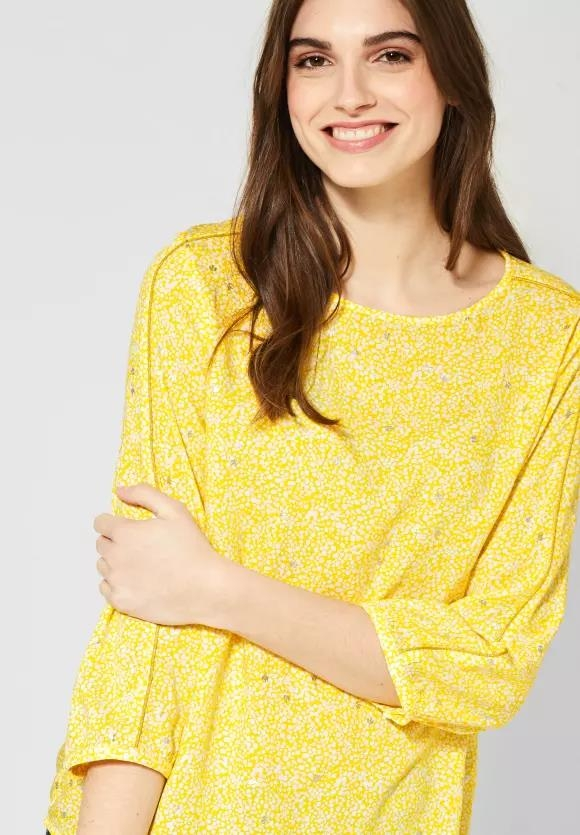 Street One | Bluse mit Schimmer-Details | Farbe: shiny yellow 32201, 341906