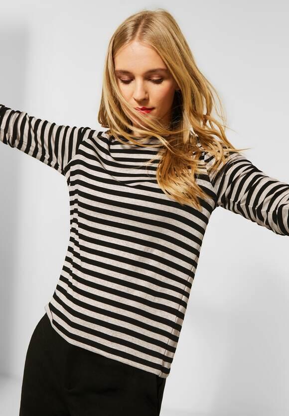 Street One | Shirt mit Streifenmuster | Farbe: savannah sand mel 22732, 315725