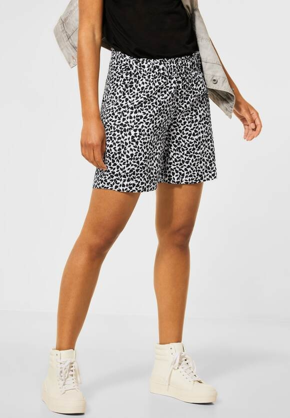 Street One | Loose Fit Shorts mit Print | Farbe: neo grey 21017, 374059