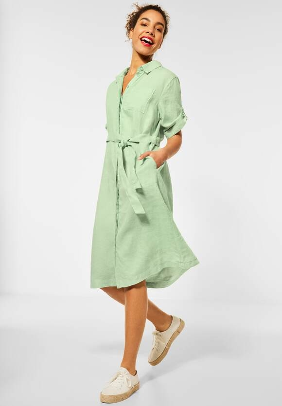 Street One | Leinen Kleid | Farbe: light green 12850, 142878