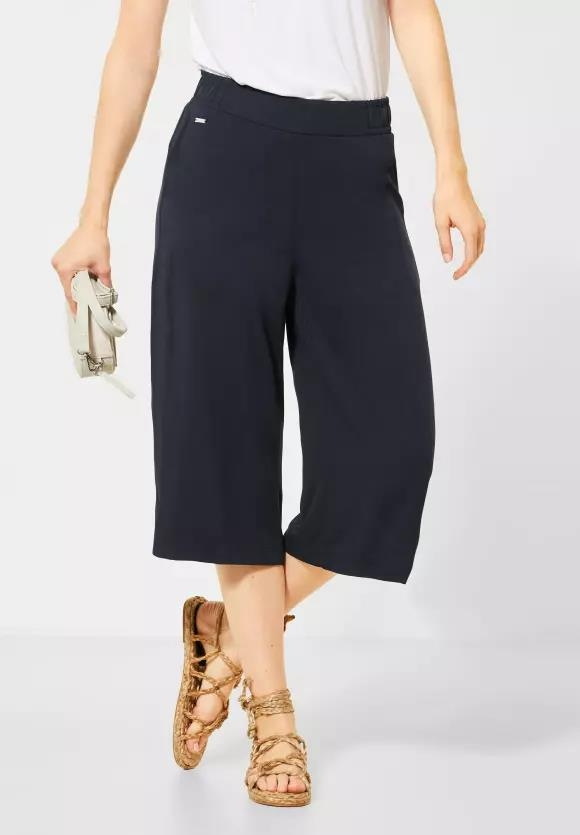 Street One | Wide Leg Hose in Unifarbe | Farbe: deep blue 11238, 373291