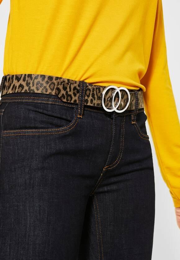 Street One | Ledergürtel mit Leomuster | Farbe: nut brown 32690, 580580