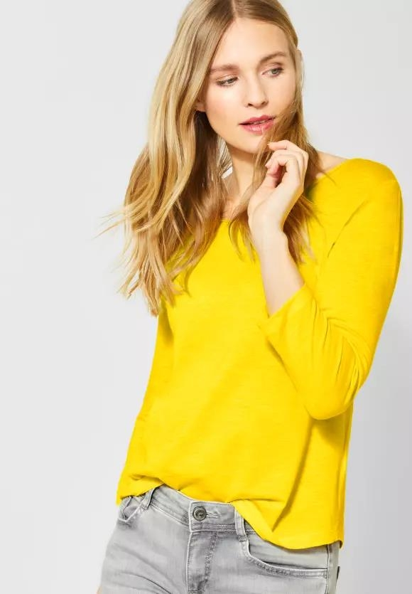 "Street One   Shirt ""Gerda"" mit 3/4 Ärmeln   Farbe: shiny yellow 12201, 314658"
