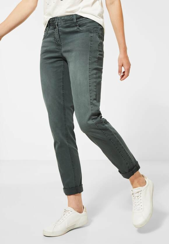 Cecil | Casual Fit Hose | Farbe: slate green 11687, 373380